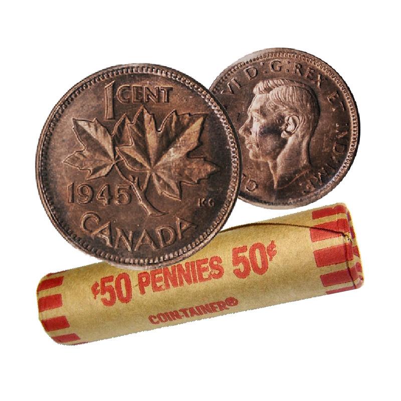 circulated 1940 Canada Copper Cent