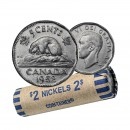 1952 Canada 5 Cents Roll (Circulated)