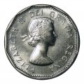 1958 Canadian 5-Cent Beaver Nickel Coin (Brilliant Uncirculated)