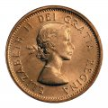 1964 Canadian 1-Cent Maple Leaf Twig Penny Coin (Brilliant Uncirculated)