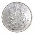 1966 Canadian 50-Cent Coat of Arms Silver Half Dollar Original Coin Roll