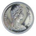 1967 (1867-) Canadian 25-Cent Bobcat Confederation Centennial Silver Quarter Coin (Brilliant Uncirculated)