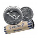 1967 Canada 5 Cents Rabbit/Hare Nickel Roll - Confederation Centennial (Circulated)