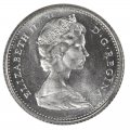 1968 Canadian 10-Cent Bluenose Schooner Dime Silver Coin (Brilliant Uncirculated)