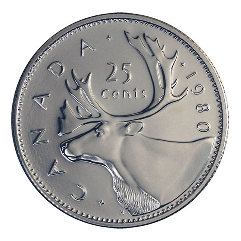Caribou RCM 1979-25-cents Specimen Uncirculated