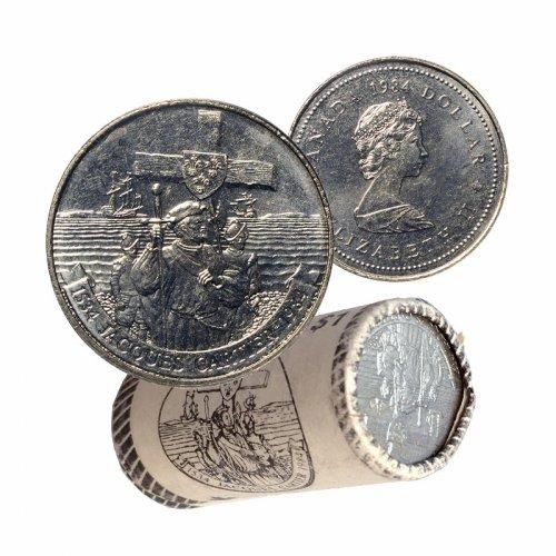 1984 (1534-) Canadian $1 Jacques Cartier 450th Anniv Dollar Original Coin Roll