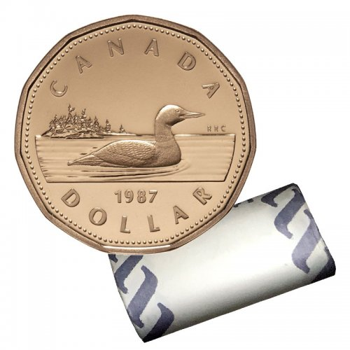 1987 Canadian $1 Common Loon Dollar Original Coin Roll