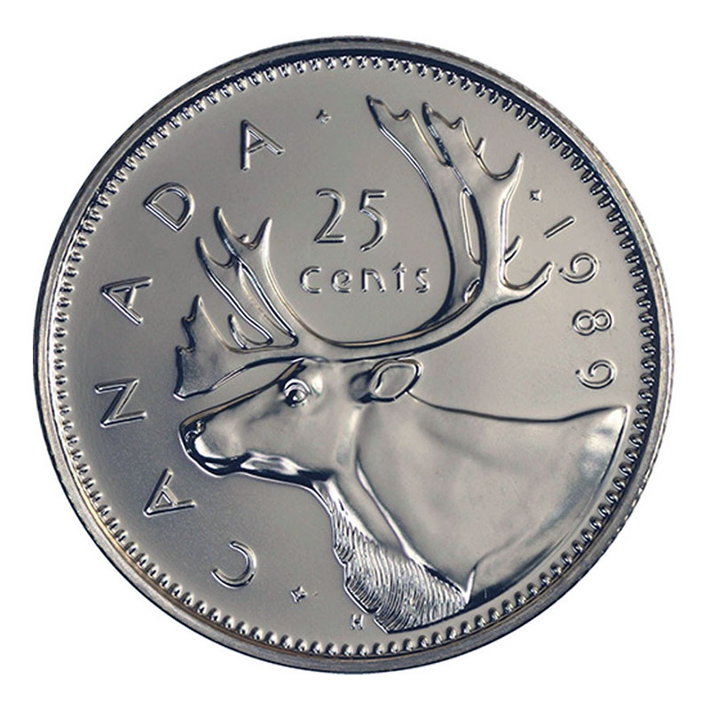 Canada 1989 25 Cents Mint Coin From Mint Set.
