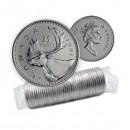 1991 Canada Caribou 25-cent Rare Date Original Coin Roll