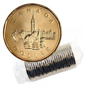 1992 (1867-) Canadian $1 Parliament/Confederation 125th Anniv Loonie Dollar Original Coin Roll