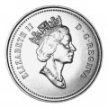 1992 (1867-) Canadian 10-Cent Bluenose Schooner/Confederation 125th Anniv Dime Coin (Brilliant Uncirculated)