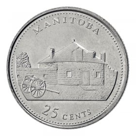 1992 (1867-) Canadian 25-Cent Manitoba Confederation 125th Anniv/Provincial Quarter Coin (Brilliant Uncirculated)