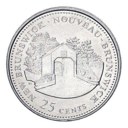 1992 (1867-) Canadian 25-Cent New Brunswick Confederation 125th Anniv/Provincial Quarter Coin (Brilliant Uncirculated)