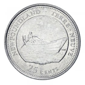 1992 (1867-) Canadian 25-Cent Newfoundland Confederation 125th Anniv/Provincial Quarter Coin (Brilliant Uncirculated)