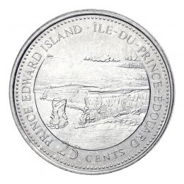 1992 (1867-) Canadian 25-Cent Prince Edward Island Confederation 125th Anniv/Provincial Quarter Coin (Brilliant Uncirculated)