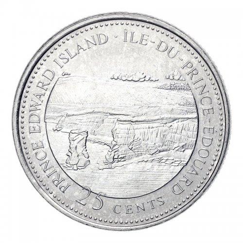 1992 (1867-) Canadian 25-Cent Prince Edward Island Confederation 125th Anniv/Provincial Quarter Coin (Brilliant Uncirculated)