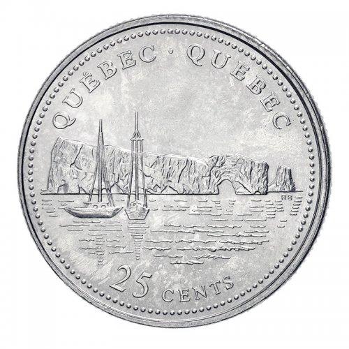 1992 (1867-) Canadian 25-Cent Quebec Confederation 125th Anniv/Provincial Quarter Coin (Brilliant Uncirculated)