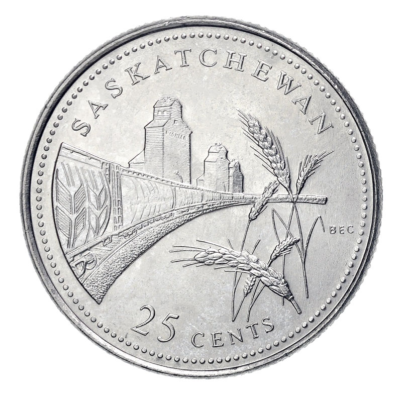 Canada 1992 Saskatchewan Province Commemorative 25 Cent Mint Coin.