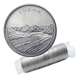 1992 (1867-) Canadian 25-Cent Yukon Confederation 125th Anniv/Provincial Quarter Original Coin Roll