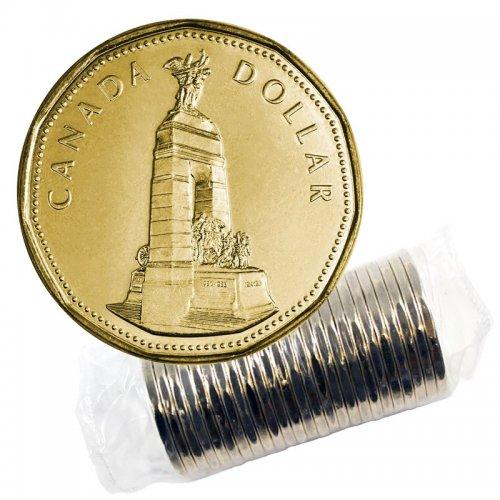 1994 Canadian $1 Remembrance/National War Memorial Loonie Dollar Original Coin Roll