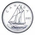 1995 Canadian 10-Cent Bluenose Schooner Dime Original Coin Roll