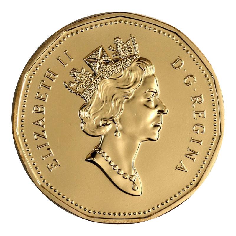 UNC. Loonie 1996 Canada One Dollar Coin.