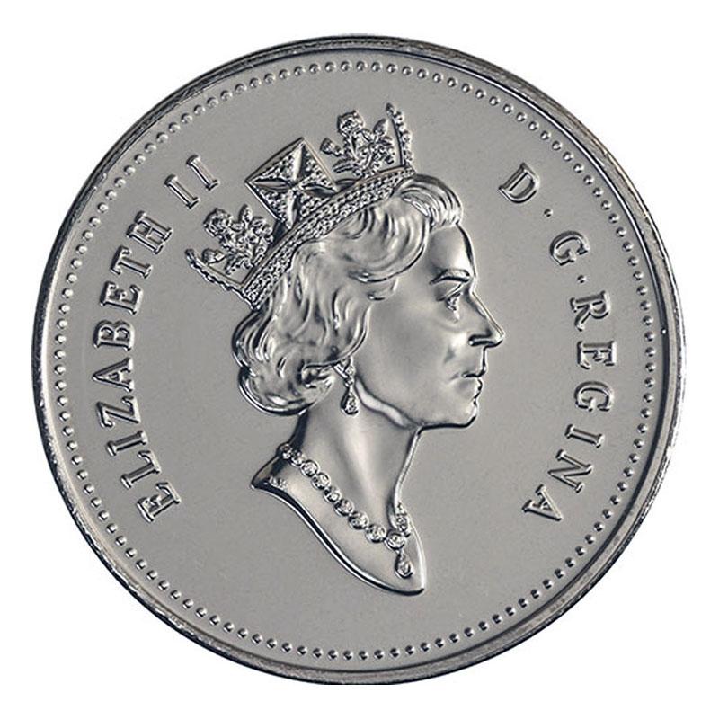 1996 Canadian 25-Cent Caribou Quarter Original Coin Roll