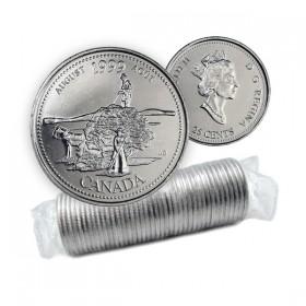 1999 Canada Millennium Series 25-cent August Original Coin Roll