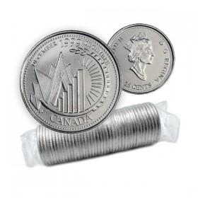 1999 Canada Millennium Series 25-cent December Original Coin Roll