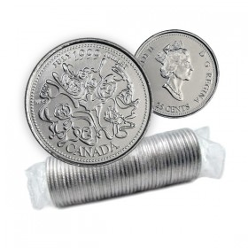 1999 Canada Millennium Series 25-cent July Original Coin Roll