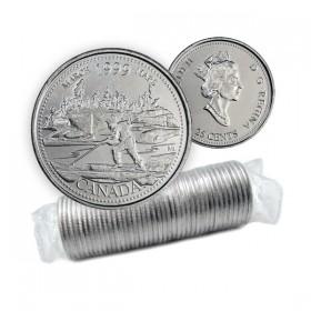 1999 Canada Millennium Series 25-cent March Original Coin Roll