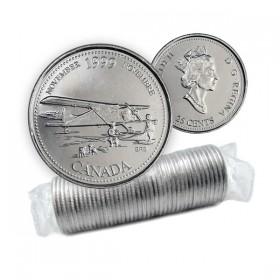 1999 Canada Millennium Series 25-cent November Original Coin Roll