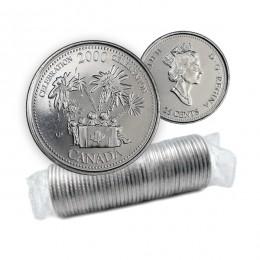 2000 Canada Millennium Quarters Series 25 Cent Celebration Original Coin Roll