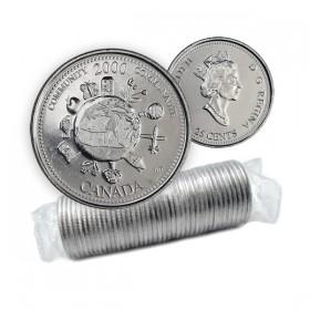 2000 Canada Millennium Series 25-cent Community Original Coin Roll