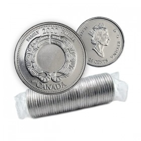 2000 Canada Millennium Series 25-cent Family Original Coin Roll