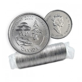 2000 Canada Millennium Series 25-cent Natural Legacy Original Coin Roll