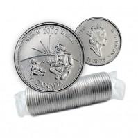 2000 Canada Millennium Series 25-cent Wisdom Original Coin Roll