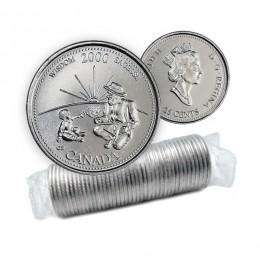 2000 Canada 2 x 25 Cent 13 Coin Sets Millennium Series with Keepsake Stamp Set