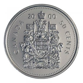 2000 Canadian 50-Cent Coat of Arms Half Dollar Coin (Brilliant Uncirculated)