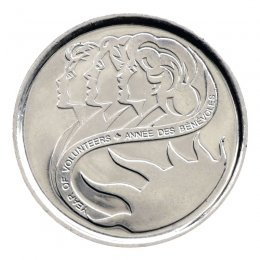 2001-P Canadian 10-Cent Year of Volunteers/Marching Mothers Dime Coin (Brilliant Uncirculated)