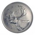 2002-P (1952-) Canadian 25-Cent Caribou/Queen's Jubilee Quarter Original Coin Roll