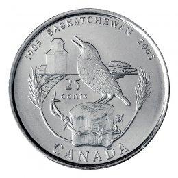 2005-P (1905-) Canadian 25-Cent Saskatchewan Centennial Quarter Coin (Brilliant Uncirculated)