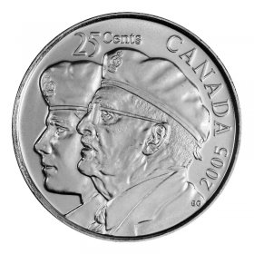 2005-P Canadian 25-Cent Year of the Veteran Quarter Coin (Brilliant Uncirculated)