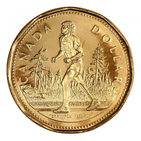 2005 Canadian $1 Terry Fox Loonie Dollar Coin (Brilliant Uncirculated)
