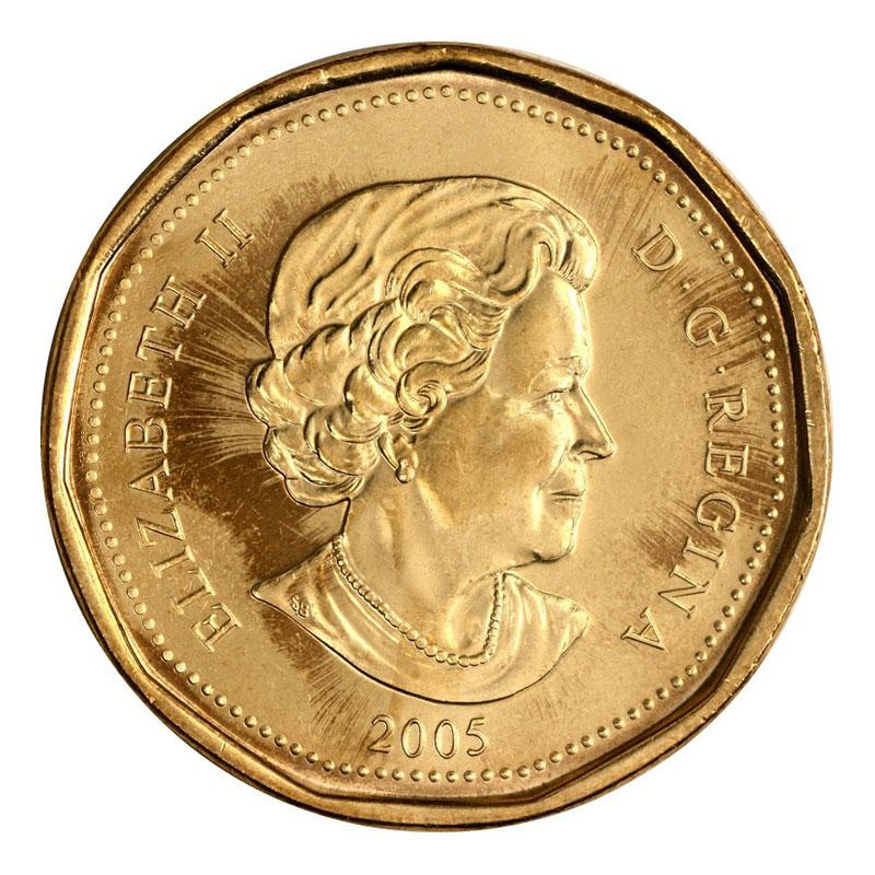 CANADA 2005 LOONIE BRILLIANT UNCIRCULATED DOLLAR