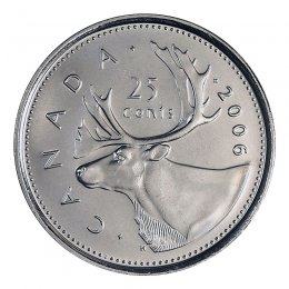 2006-P Canadian 25-Cent Caribou Quarter Coin (Brilliant Uncirculated)