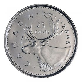 2006 Canadian 25-Cent Caribou Quarter Mint Logo Coin (Brilliant Uncirculated)