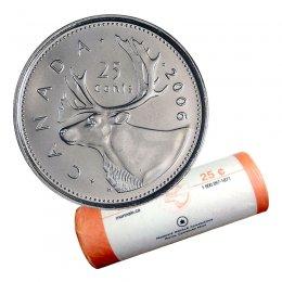 2006-P Canadian 25-Cent Caribou Quarter Original Coin Roll