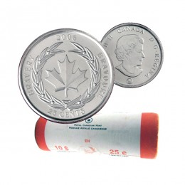 2006 Canada 25-cent Medal of Bravery Original Coin Roll