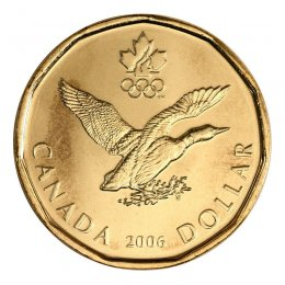 2006 Canadian $1 Olympic Lucky Loonie Dollar (Brilliant Uncirculated)
